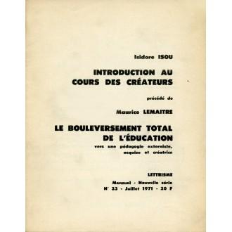 Introduction au Cours des Créateurs / Livret