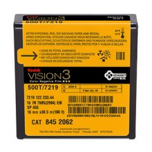 Bobine de 30,5m de 16mm Kodak couleur négative, 500T/7219