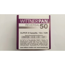 WITTNER PAN 50, Super 8 cartridge, B/W, 50ft / 15m