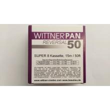 WITTNER PAN 50, Super 8 cartouche, B/W , 50ft / 15m