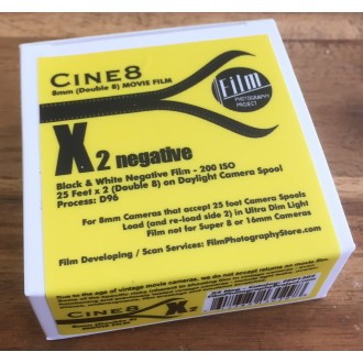 Double 8 Film - Cine8 BW Negative 200 ASA  (25 ft / 7.6m)
