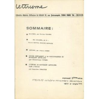 Lettrisme n°10-11-12