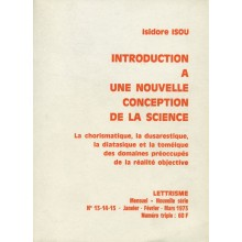 Introduction à une nouvelle conception de la science