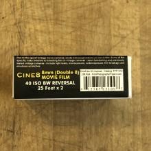 Pellicule Double 8 - Cine8 Inversible N&B 40 ASA (15m)