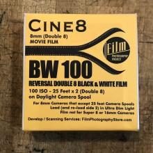 Pellicule Double 8 - Cine8 Inversible N&B 100 ASA (15m)
