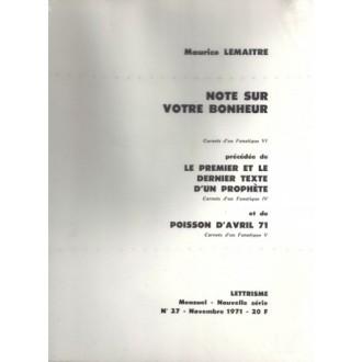 Note Sur Votre Bonheur / Pamphlet
