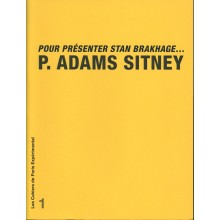 Notebook N° 1: To Present Stan Brakhage... P. Adams Sitney