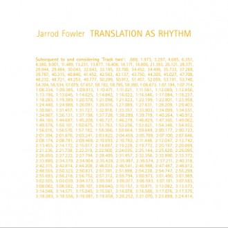 Jarrod Fowler - Translation as Rhythm