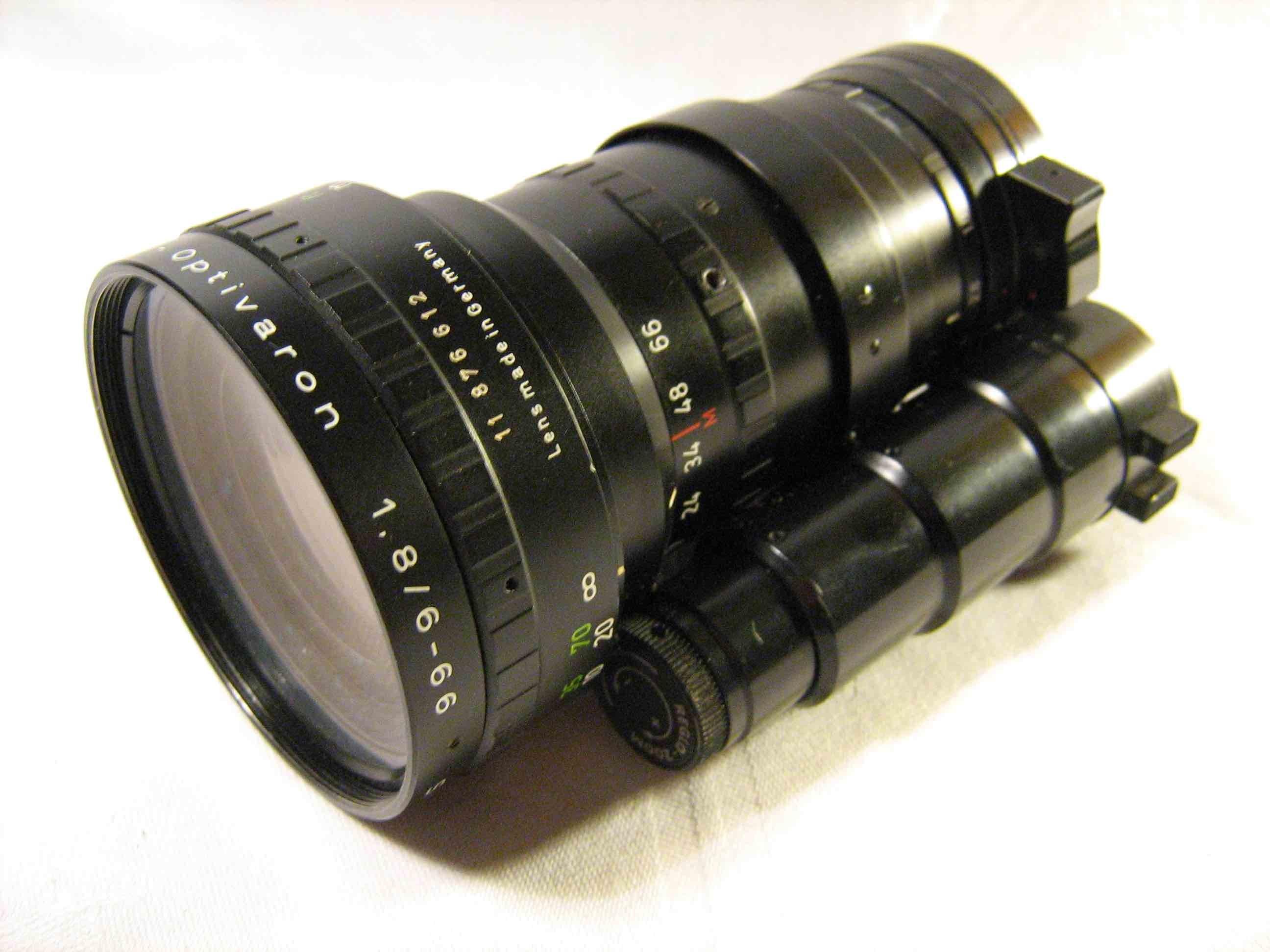 Schneider f1.8, 6-66 mm lens